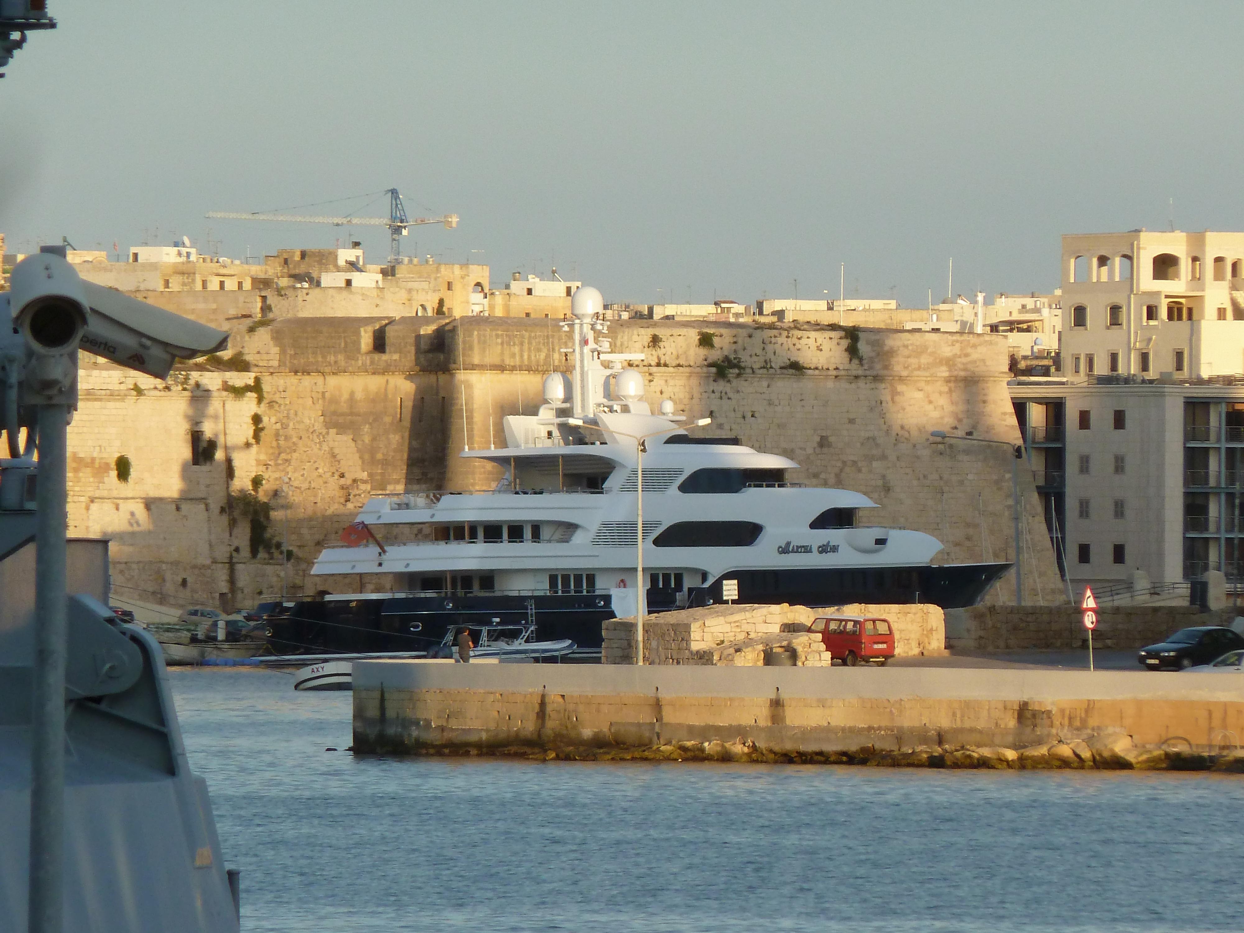 Martha Ann, Lürssen 70m, Valetta, Malta