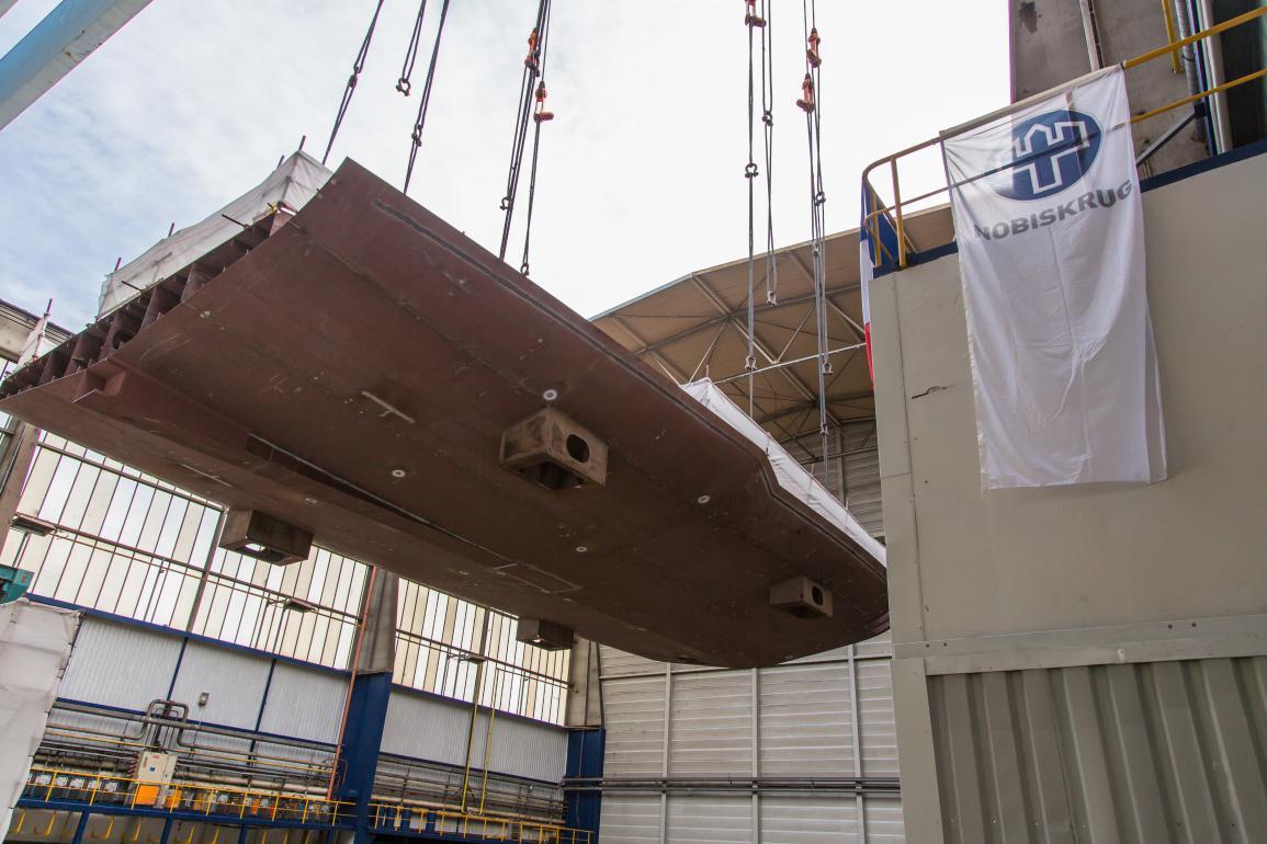 Nobiskrug keel laying 80m superyacht.jpg