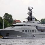 Profile of Superyacht Skat in Kiel Canal