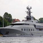 Profile of Superyacht Skat in Kiel Canal