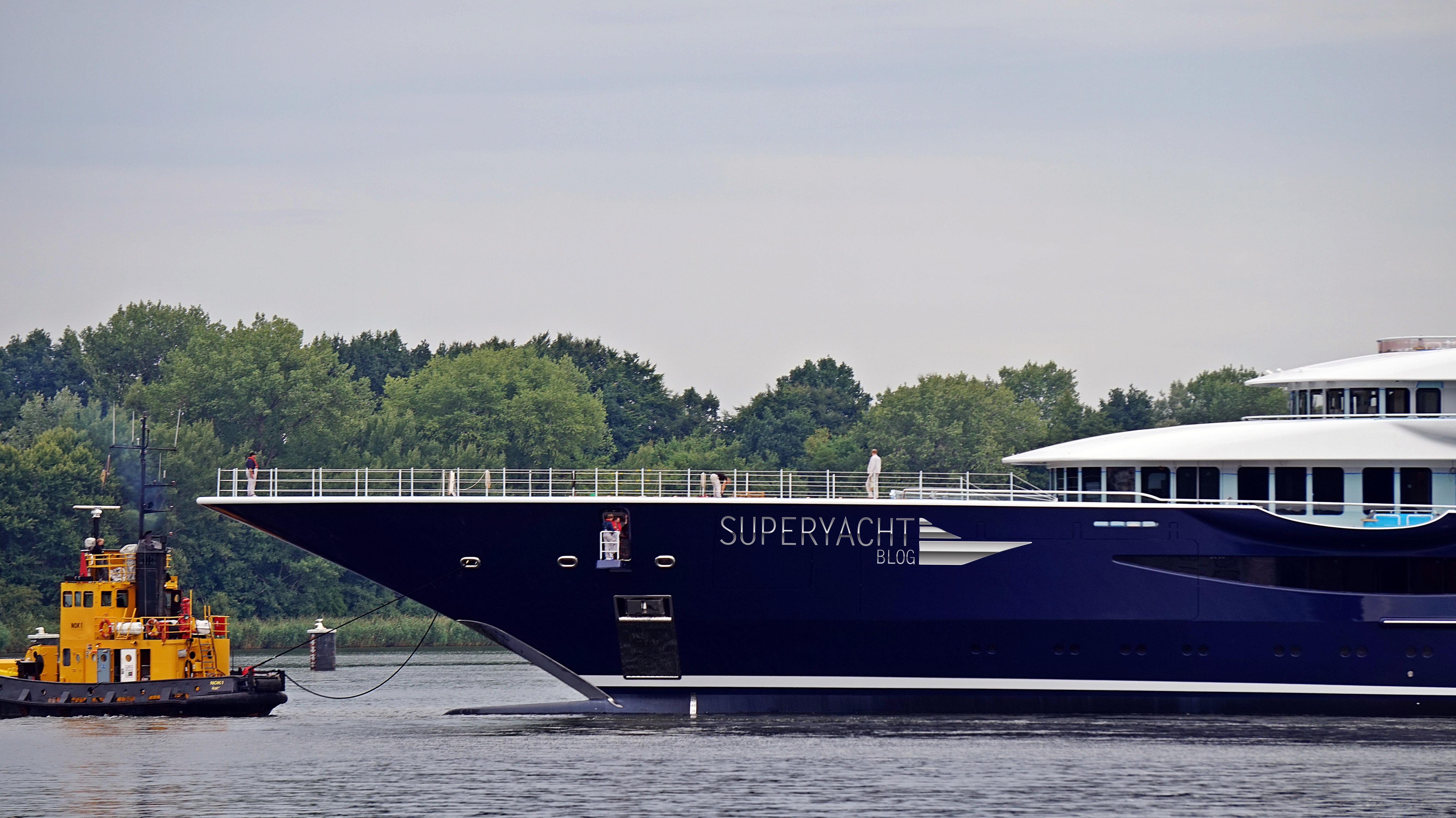 TIS (Palo Alto) launched, Lürssen Yacht, Superyachtblog
