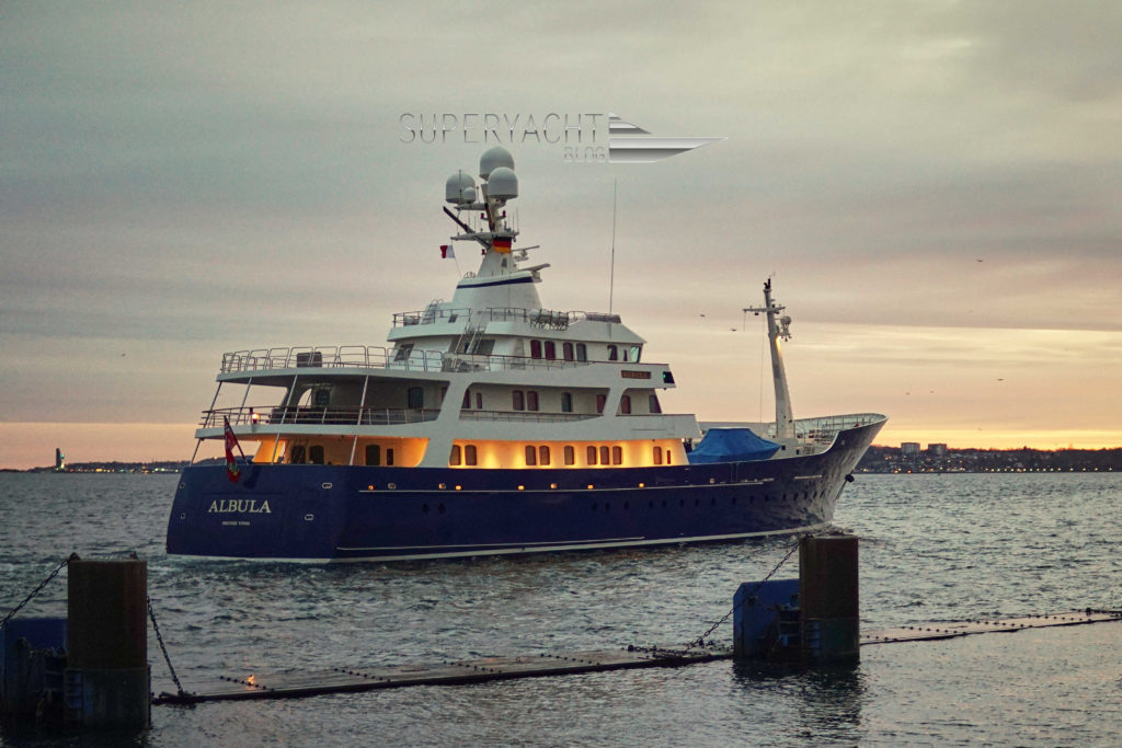 Albula was built in 2006 in Assens, Denmark at Royal Denship. The yacht returned to her home shipyard for a refit period.