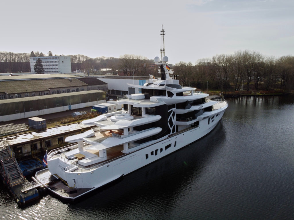 Artefact Superyacht in Rendsburg at Nobiskrug